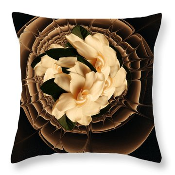 Flowers And Chocolate Throw Pillow