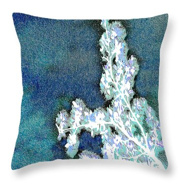 Flowers And Ice Throw Pillow