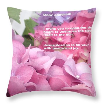 Flowers And Joy  Throw Pillow