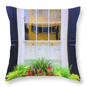 Flowers And Reflections Throw Pillow