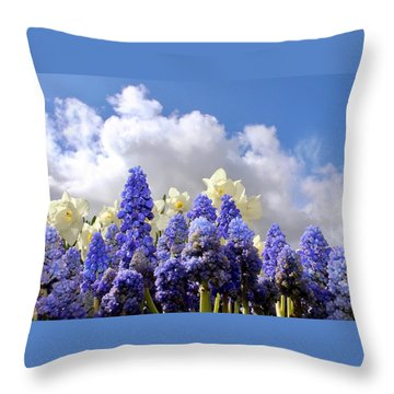 Flowers And Sky Throw Pillow