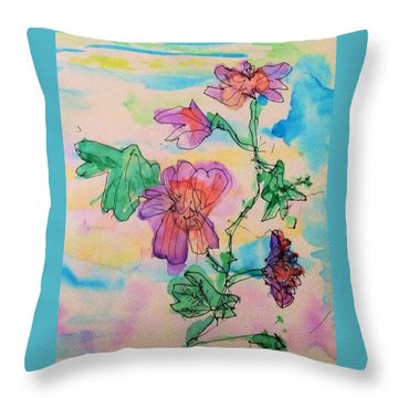 Flowers Are Blooming  Throw Pillow