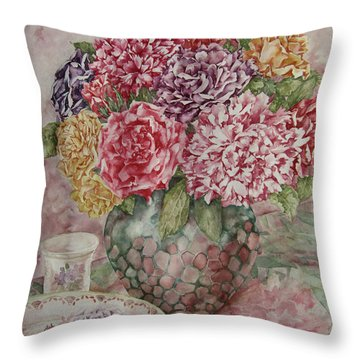 Flowers Arrangement  Throw Pillow