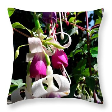 Throw Pillow featuring the photograph Flowers by Bernd Hau