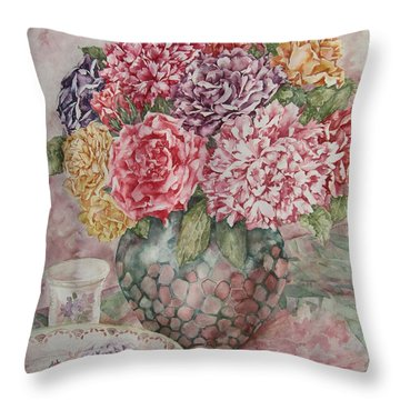 Flowers Arrangement  Throw Pillow by Kim Tran