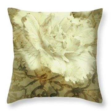 Flowers By The Window Throw Pillow