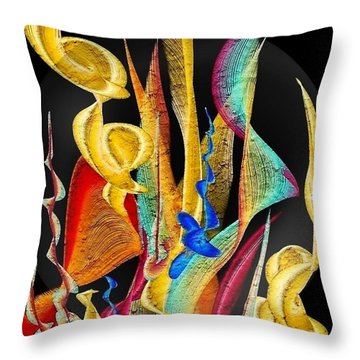 Flowers Dream By Nico Bielow Throw Pillow