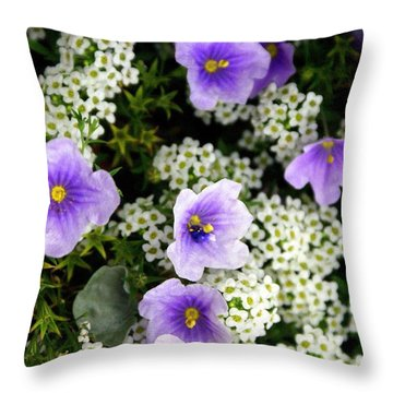 Flowers Etc Throw Pillow by Marty Koch