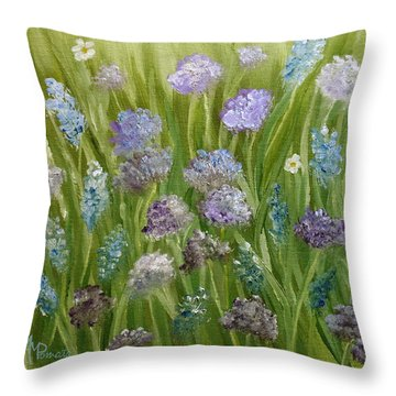 Flowers Field Throw Pillow