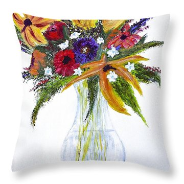 Flowers For An Occasion Throw Pillow