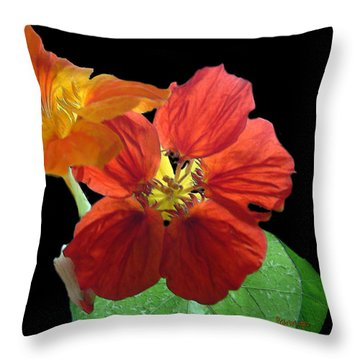 Flowers For Ebie Throw Pillow by RC deWinter