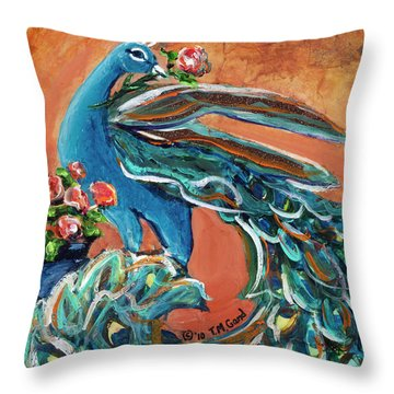Flowers For Madame Throw Pillow