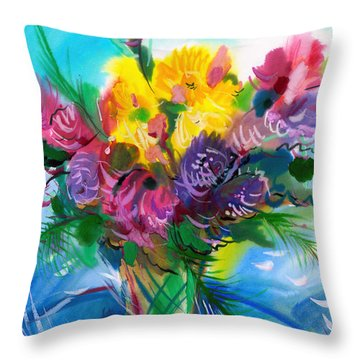Flowers For My Jesus Throw Pillow by Karen Showell
