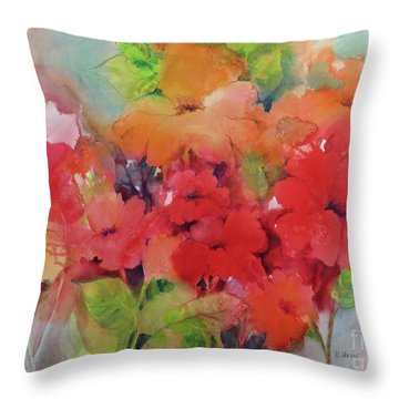 Flowers For Peggy Throw Pillow