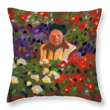 Flowers For Sale Throw Pillow