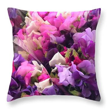 Flowers For Sale4 Throw Pillow