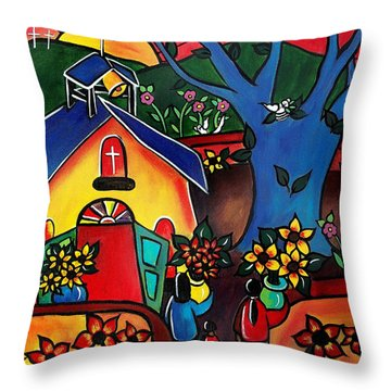 Flowers For The Church #2 Throw Pillow