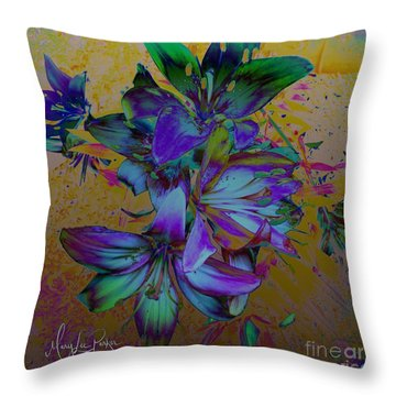 Flowers For The Heart Throw Pillow