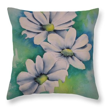 Flowers For You Throw Pillow by Chrisann Ellis
