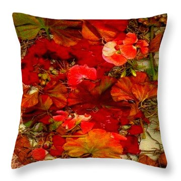 Flowers For You Throw Pillow by Ray Tapajna