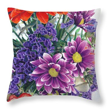 Flowers From Daughter Throw Pillow