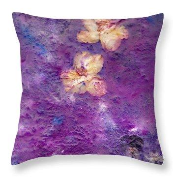 Flowers From The Garden Throw Pillow