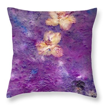 Flowers From The Garden Throw Pillow