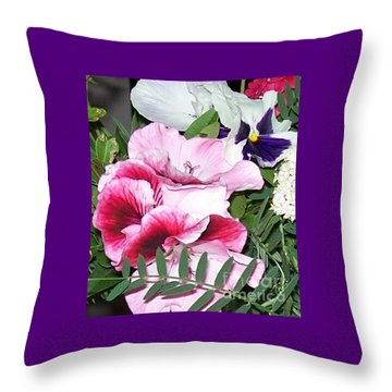 Throw Pillow featuring the photograph Flowers From The Heart by Jolanta Anna Karolska