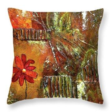 Flowers Grow Anywhere Throw Pillow