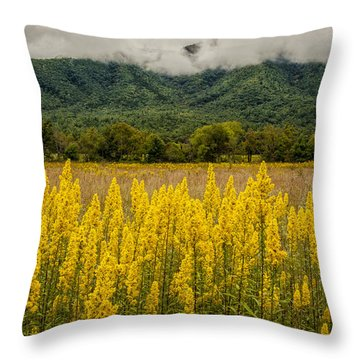 Flowers In Cades Cove Throw Pillow