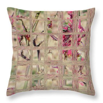 Flowers In Glass Throw Pillow by Lenore Senior