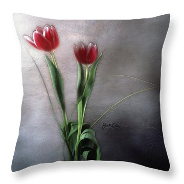 Flowers In Light Throw Pillow by Jack Eadon