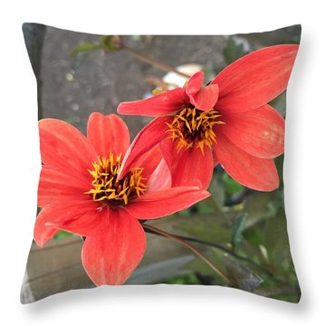 Flowers In Love Throw Pillow