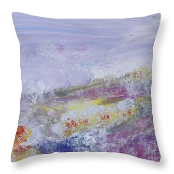 Flowers In The Ether Throw Pillow