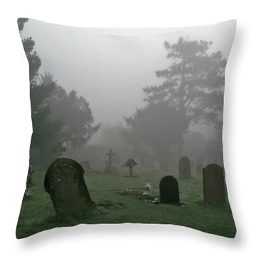 Flowers In The Mist Throw Pillow