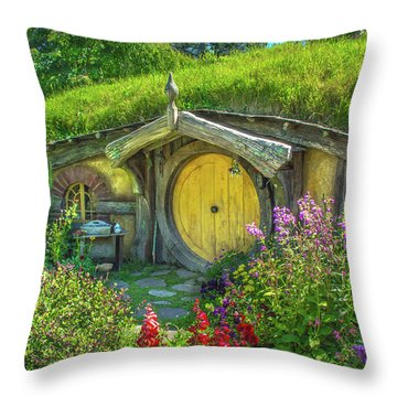 Flowers In The Shire Throw Pillow