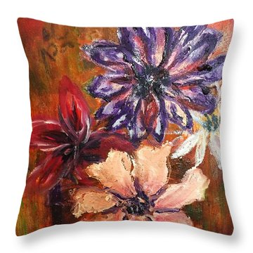 Flowers In The Spring Throw Pillow