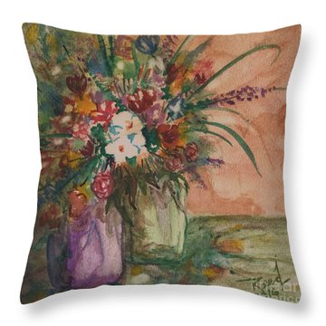 Flowers In Vases 2 Throw Pillow