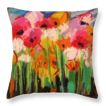 Flowers Throw Pillow by John Williams