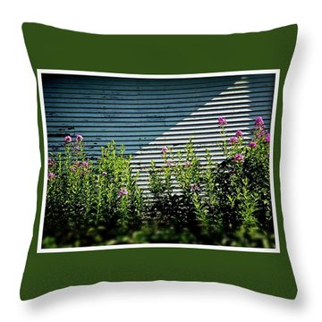 Flowers Line-up Throw Pillow