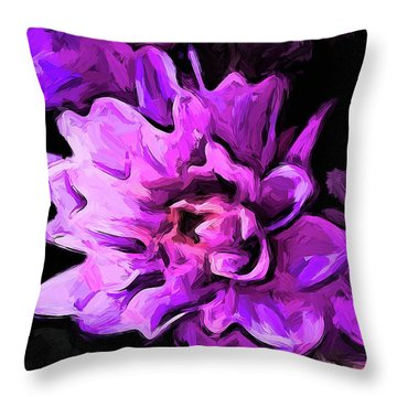 Flowers Of Lavender And Pink 1 Throw Pillow