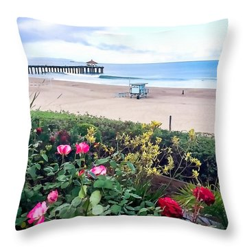 Flowers Of Manhattan Beach Throw Pillow