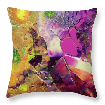 Flowers Of The Cosmic Sea Throw Pillow