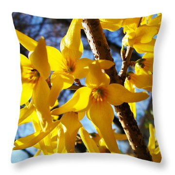 Flowers Of The Sky Throw Pillow