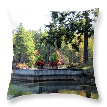 Flowers On The Rift Throw Pillow
