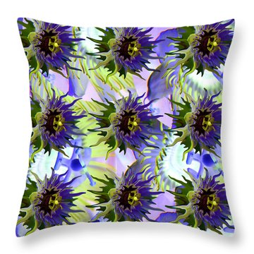 Flowers On The Wall Throw Pillow by Betsy Knapp