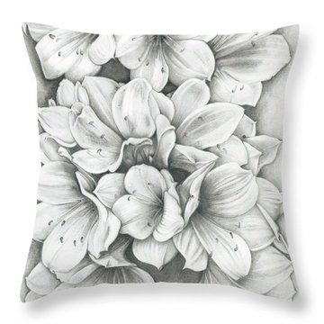 Clivia Flowers Pencil Throw Pillow