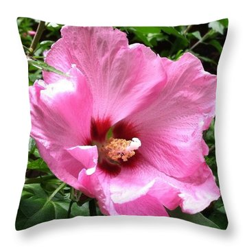 #flowers #pink #floral Throw Pillow