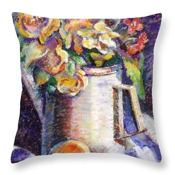 Flowers Throw Pillow by Stan Esson