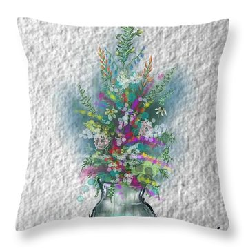 Flowers Study Two Throw Pillow
